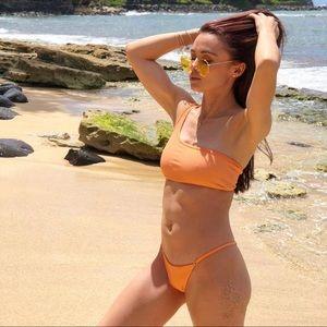 Frankie's Bikinis Scarlett bottoms sunrise orange